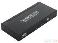 Разветвитель HDMI Splitter Orient HSP0104, 1-)4, HDMI 1.4/3D, HDTV1080p/1080i/720p, HDCP1.2, внешний