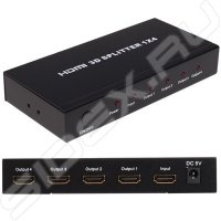 Разветвитель HDMI HDMI 4K Splitter Orient HSP0104H , 1-)4, HDMI 1.4b/3D, UHDTV 4K(3840x2160)/HDTV108