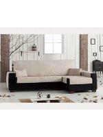 Накидка непромокаемая на угловой диван Иден бежевый, правый угол