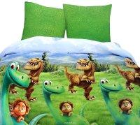 Хороший динозавр Комплект детского постельного белья Динозавр 1,5-спальный