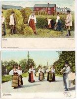 Швеция, комплект из 2 открыток