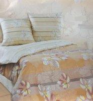 Экзотика Ваниль Комплект 2 спальный, простыня на резинке Поплин