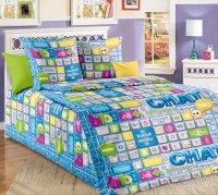 ТексДизайн Комплект постельного белья детский 1.5 спальный из Бязи Чат КПБ 1,5/150 арт 1100 А