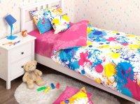 Хлопковый Край Комплект детского постельного белья Happy Pink 1,5-спальный наволочка 50 см х 70 см