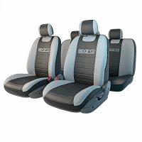 Чехлы автомобильные SPARCO серия Classic, черный/серый