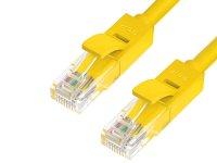 Аксессуар Greenconnect UTP 24AWG cat.6 RJ45 T568B 1m Yellow GCR-LNC602-1.0m