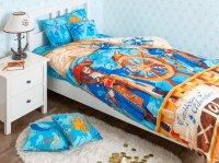 Хлопковый Край Комплект детского постельного белья Пираты 1,5-спальный наволочка 70 см х 70 см
