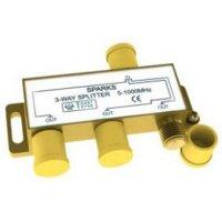Sparks SG1175, Сплиттер на 3 направления 5-1000 мгц, улучшенный + F-разъемы (4 шт.)