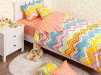 Хлопковый Край Комплект детского постельного белья Zigzag Orange 1,5-спальный простынь 220 см х 150