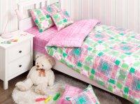 Хлопковый Край Комплект детского постельного белья Geometry Pink 1,5-спальный наволочка 70 см х 70 с