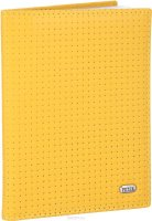 Обложка для автодокументов женская Petek 1855, цвет: желтый. 584.020.96