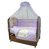 Топотушки Комплект детского постельного белья Детский Мир цвет сиреневый 7 предметов