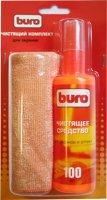 Чистящий комплект BURO микрофибра + спрей для экранов