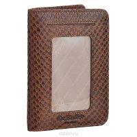 """Обложка для автодокументов """"Dr. Koffer"""", цвет: коричневый. X510174-191-09"""
