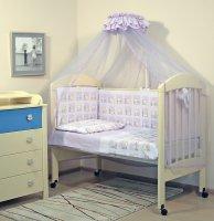 Топотушки Комплект детского постельного белья Мишутка цвет сиреневый 7 предметов