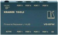 Kramer VS-8FW Разветвитель (8 портов) двунаправленные, FireWire сигналов, 0.3 кг