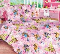 ТексДизайн Комплект постельного белья детский 1.5 спальный из Бязи Волшебницы 1 роз. КПБ 1,5/150 арт