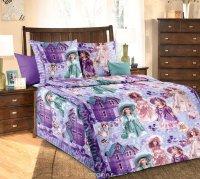 ТексДизайн Комплект постельного белья детский 1.5 спальный из Бязи Куклы КПБ 1,5/150 арт 1100 А