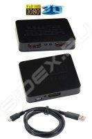 Разветвитель HDMI Splitter Orient HSP0102L, 1-)2, HDMI 1.4/3D, HDTV1080p/1080i/720p, HDCP1.2, питани