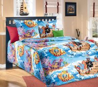 ТексДизайн Комплект постельного белья детский 1.5 спальный из Бязи Пираты 1 КПБ 1,5/150 арт 1100 А