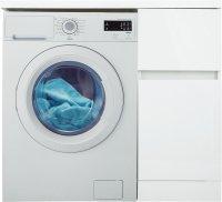 Тумба под стиральную машину напольная Лайн 40 см цвет белый