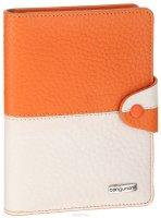 Обложка для автодокументов Cangurione, цвет: оранжевый, бежевый. 3341-F