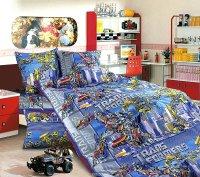 ТексДизайн Комплект постельного белья детский 1.5 спальный из Бязи Трансформеры КПБ 1,5/150 арт 1100