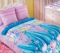 ТексДизайн Комплект постельного белья детский 1.5 спальный из Бязи Золушка 1,5/150 арт 1130 К