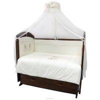 Топотушки Комплект детского постельного белья Аморе Мио цвет белый 7 предметов