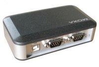 MOXA UPort 2210 Преобразователь 2-портовый USB в RS-232 в  пластиковом корпусе