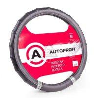 Оплетка AUTOPROFI AP-1410 BK/SILVER (M)