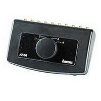 """Селектор источника аудио сигнала AP-04, 2 -)1 RCA """"тюльпан"""" (f), стерео HAMA (H-42911) черный"""